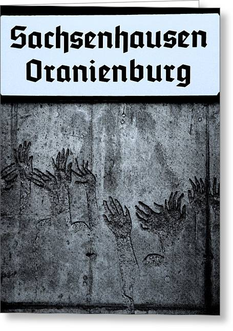 Signed Reliefs Greeting Cards - Holocaust Sign Greeting Card by Tom Jacob