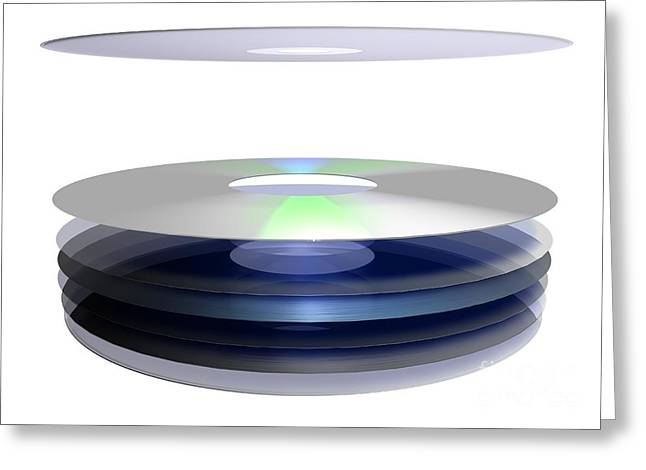 Holographic Versatile Disc, Artwork Greeting Card by Hans-ulrich Osterwalder