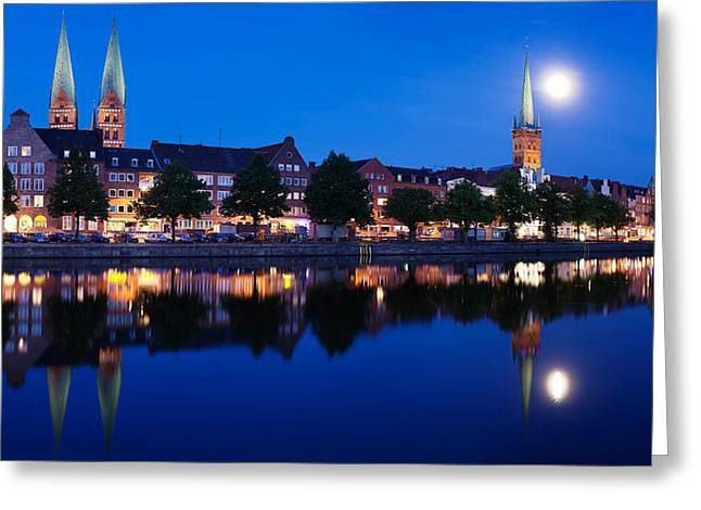 Marys Greeting Cards - Holstenhafen On The River Untertrave Greeting Card by Panoramic Images
