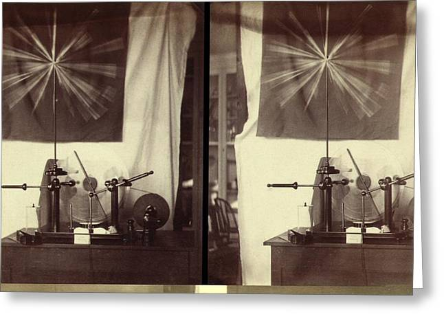 Carlisle Greeting Cards - Holtz machine, steroegraphic images Greeting Card by Science Photo Library