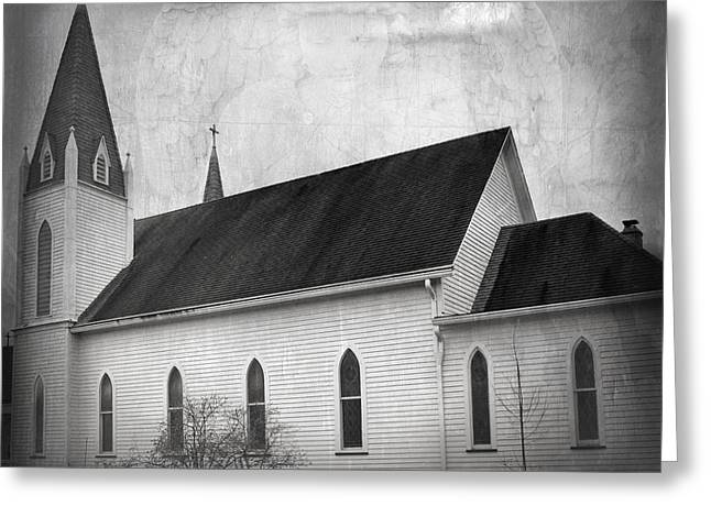 Indiana Photography Greeting Cards - Holy Angels Parish Greeting Card by Steven  Michael