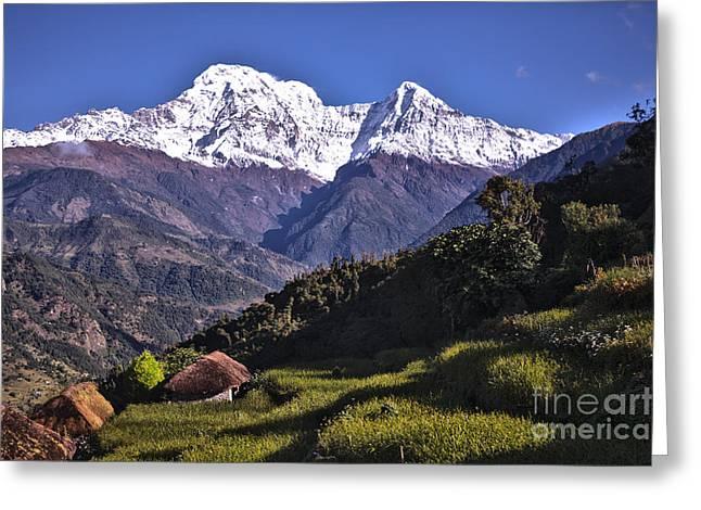 Holy Annapurna South Photo By Artmif Hdr Greeting Card by Raimond Klavins