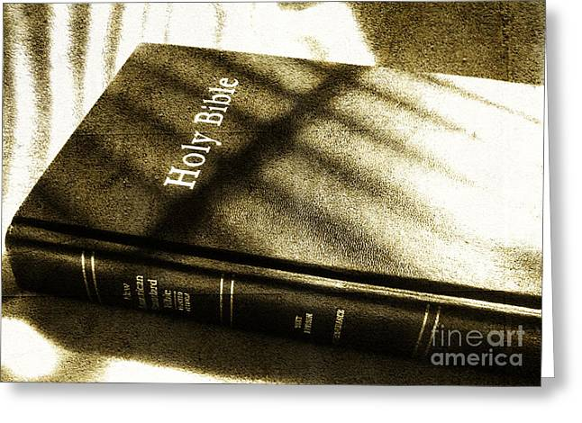 Eps10 Greeting Cards - Holy Bible Greeting Card by Andrea Anderegg