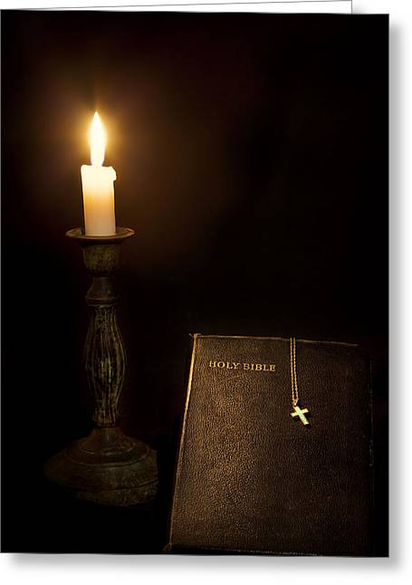 Born Again Photographs Greeting Cards - Holy Bible Greeting Card by Bill  Wakeley