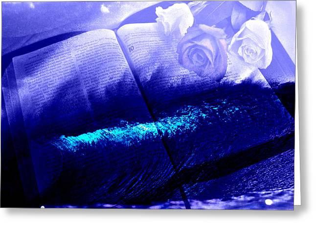 Bible; Jesus Christ; John The Baptist; Dove; Holy Spirit; River Jordan; Loincloth; Loin Cloth; Spirit Descending; Greeting Cards - Holy Bible Greeting Card by Tony Ashley