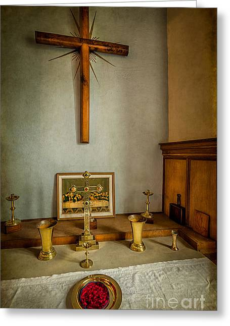 Crucifix Digital Art Greeting Cards - Holy Chalice Greeting Card by Adrian Evans