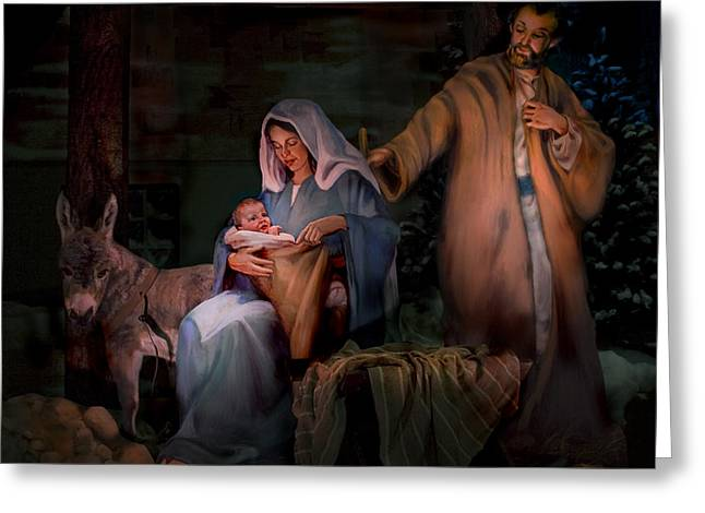 Holy Child Greeting Card by Jean Hildebrant