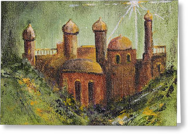 Jordan Paintings Greeting Cards - Holy City Greeting Card by Patricia Caldwell