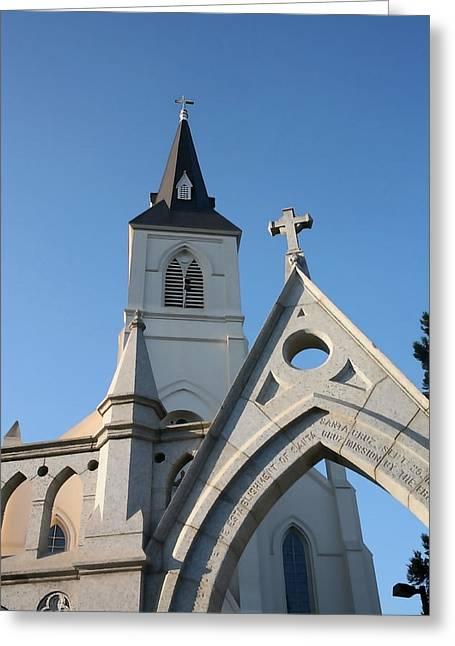 Santa Cruz Art Greeting Cards - Holy Cross Church Greeting Card by Art Block Collections