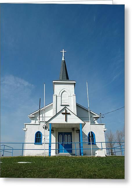 Nektarios Greeting Cards - Holy Cross Nektarios Greek Orthodox Church Crown Hill Ontario Greeting Card by John Jacquemain