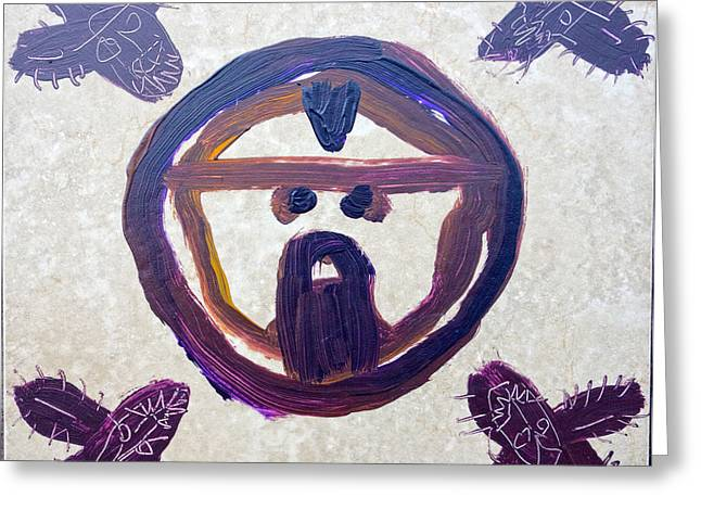 Symbol Ceramics Greeting Cards - Holy Face Greeting Card by Reiner Poser