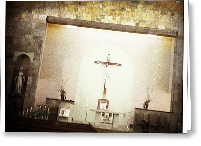 Saint Jude Greeting Cards - Holy Faith Greeting Card by Mark David Gerson
