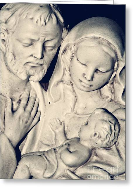 Christ Child Greeting Cards - Holy Family Greeting Card by Dan Radi