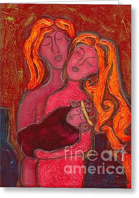 Agnus Greeting Cards - Holy Family Greeting Card by Jennifer Wilkinson Rynbrandt