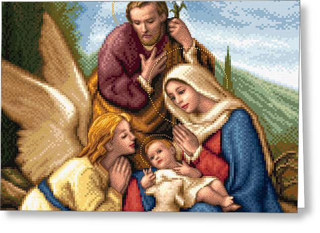 Holy Family Greeting Card by Stoyanka Ivanova