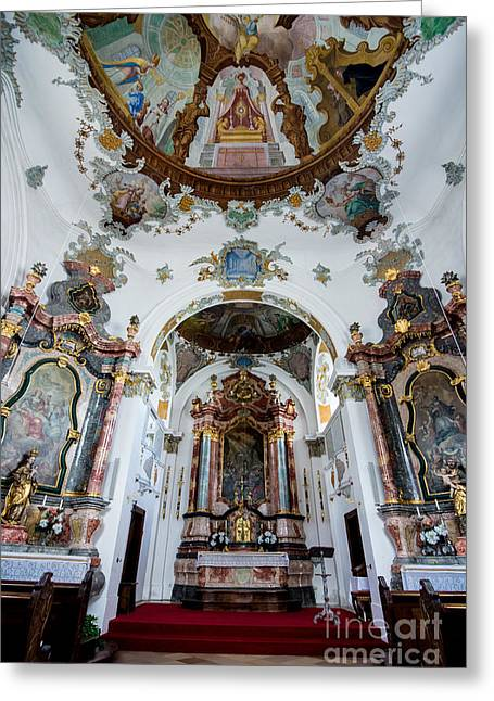 Holy Ghost Church Greeting Cards - Holy Ghost Hospital Church - Fussen - Germany Greeting Card by Gary Whitton