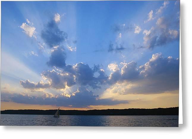Lake Geneva Greeting Cards - Holy Grail - Lake Geneva Wisconsin Greeting Card by Bruce Thompson