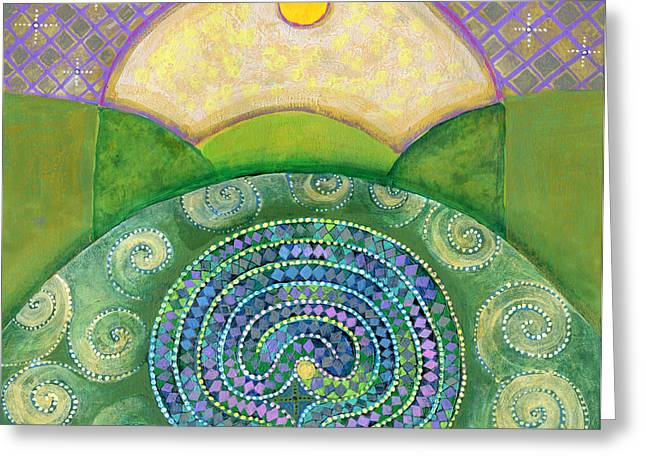 Ley Lines Greeting Cards - Holy Ground Greeting Card by Faith Nolton
