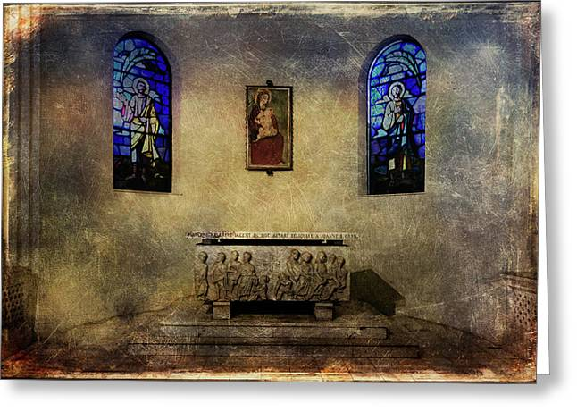 Altar Picture Greeting Cards - Holy grunge Greeting Card by Roberto Pagani