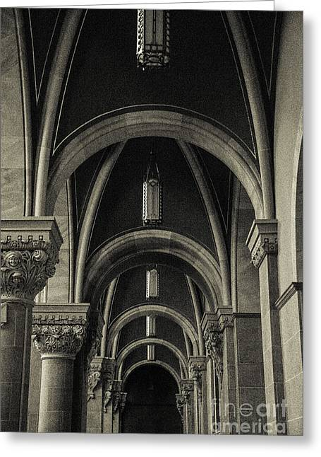 Mary Help Of The Romans Greeting Cards - Holy Hill Archways Greeting Card by Christina Klausen