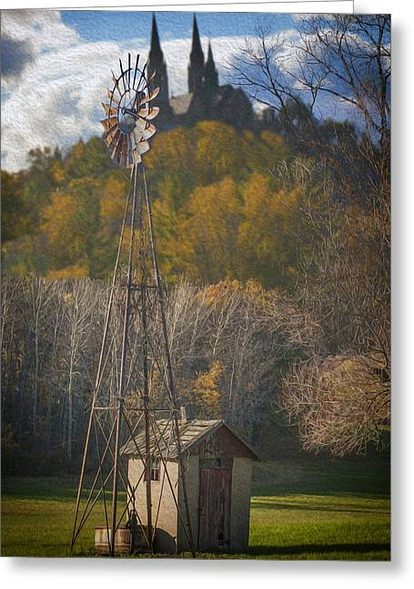Rosary Digital Art Greeting Cards - Holy Hill  Wisconsin Greeting Card by Jack Zulli