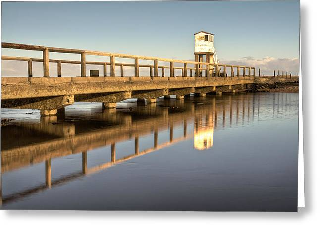 North Sea Greeting Cards - Holy Island Watchtower Greeting Card by Chris Frost