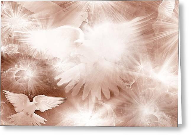 Jennifer Page Greeting Cards - Holy Light Greeting Card by Jennifer Page