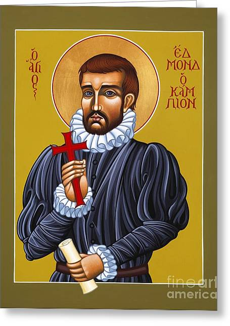 Martyr Greeting Cards - Holy Martyr Edmund Campion Greeting Card by William Hart McNichols