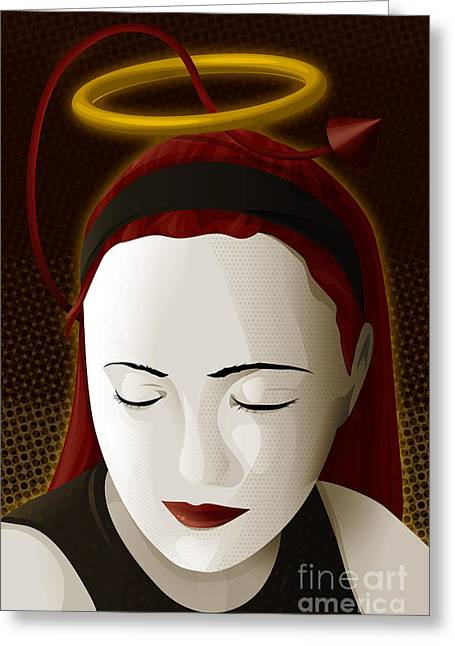 Holy Mary Greeting Card by Sandra Hoefer
