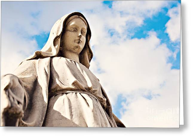 Innocence Greeting Cards - Holy Mary statue Greeting Card by Dan Radi