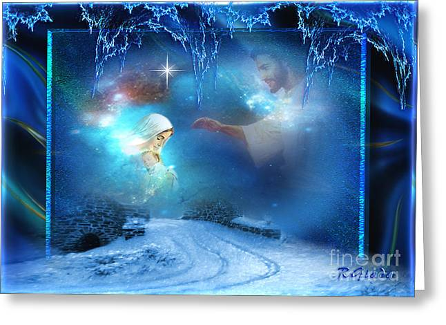 Artprint Greeting Cards - Holy Night - Christmas art by Giada Rossi Greeting Card by Giada Rossi