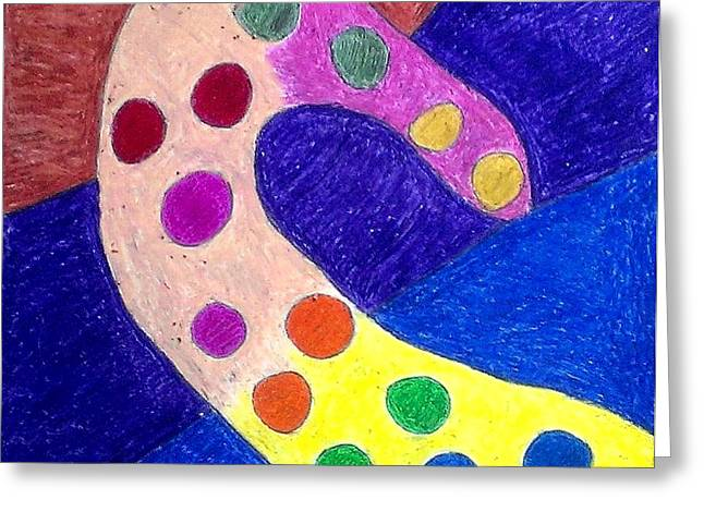 Dot Pastels Greeting Cards - Holy Polka Greeting Card by Catherine Ratliff