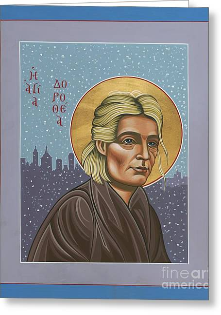 Sacred Paintings Greeting Cards - Holy Prophet Dorothy Day 154 Greeting Card by William Hart McNichols