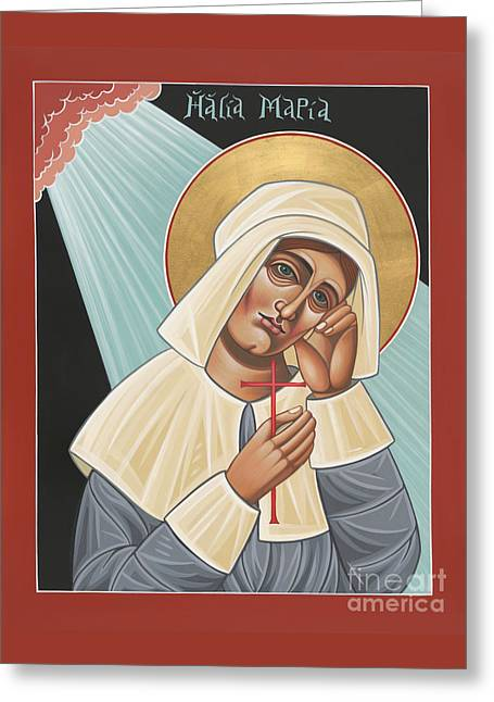 Quaker Paintings Greeting Cards - Holy Quaker Martyr Mary Dyer 157 Greeting Card by William Hart McNichols