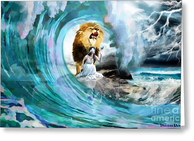 Presence Greeting Cards - Holy Roar Greeting Card by Dolores Develde