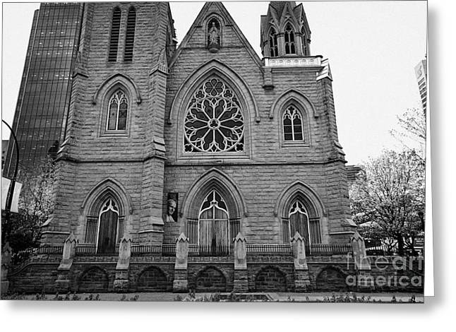 Rosary Greeting Cards - holy rosary cathedral headquarters of the roman catholic archdiocese of Vancouver BC Canada Greeting Card by Joe Fox