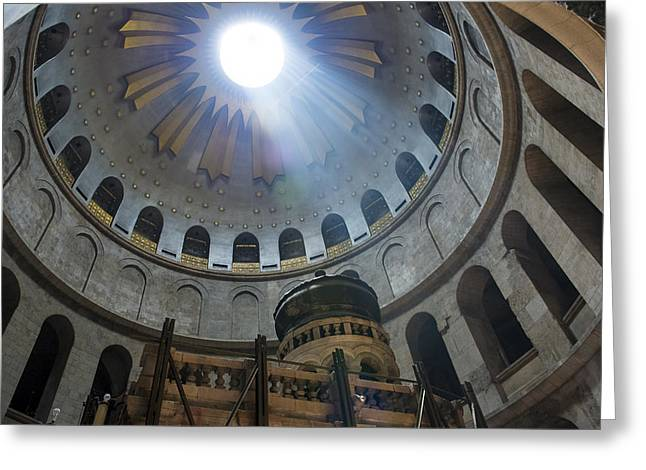 Kobby Dagan Greeting Cards - Holy sepulcher Greeting Card by Kobby Dagan
