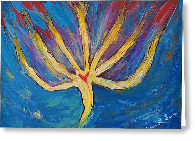 Art-by-cassie Sears Greeting Cards - Holy Spirit which dwells in you Greeting Card by Cassie Sears