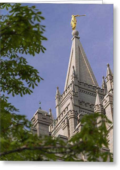 Salt Lake City - Utah Greeting Cards - Holy Temple Greeting Card by Chad Dutson