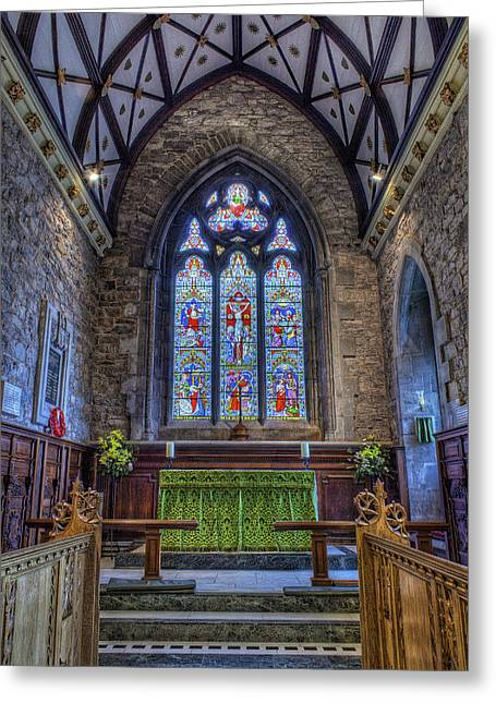 Candle Lit Greeting Cards - Holy Trinity Church Greeting Card by Ian Mitchell