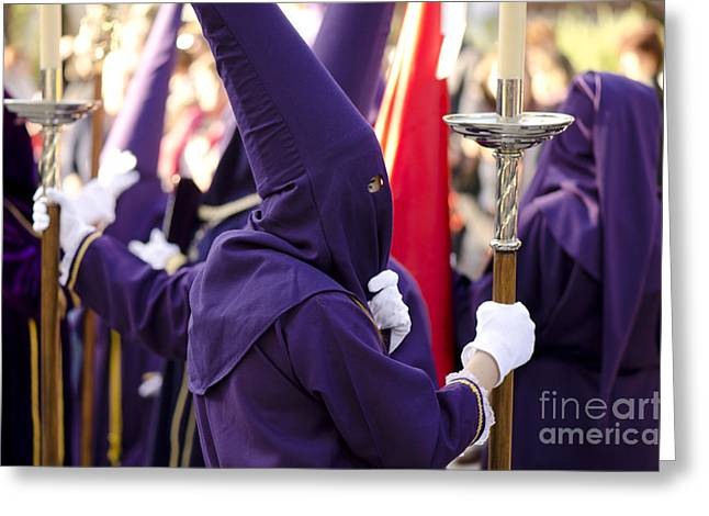 Drum Throne Greeting Cards - Holy week in Spain Greeting Card by Perry Van Munster