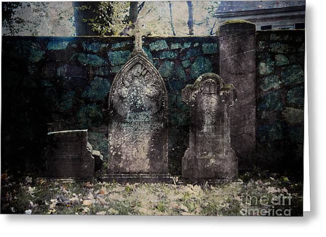 Holyhood Cemetery Stones Greeting Card by Sonja Quintero