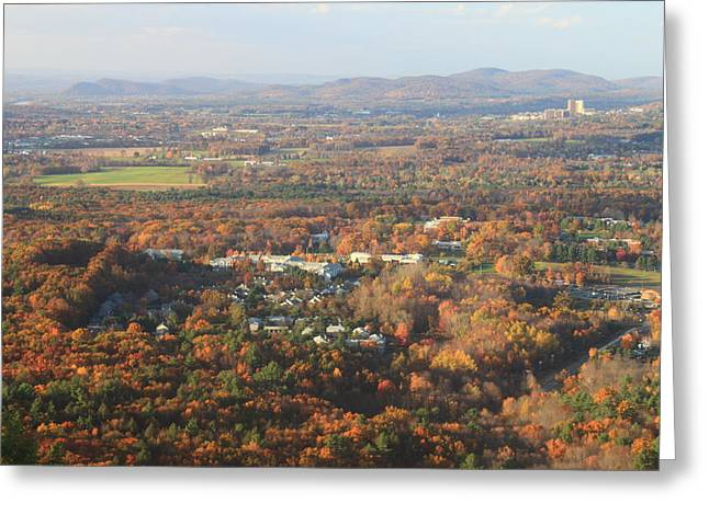 Umass Greeting Cards - Holyoke Range Foliage View from Bare Mountain Greeting Card by John Burk