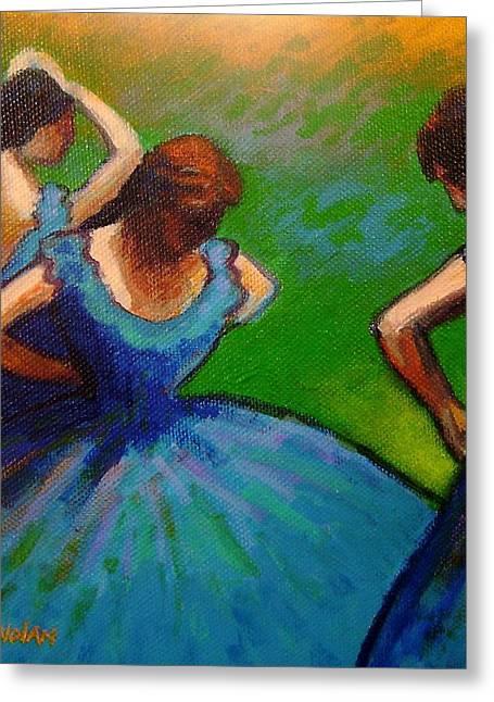 Dancer Art Greeting Cards - Homage to Degas II Greeting Card by John  Nolan