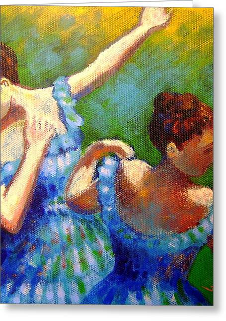Modern Dance Greeting Cards - Homage to Degas Greeting Card by John  Nolan