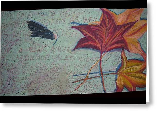 Poetry Pastels Greeting Cards - Homage to M.O. Greeting Card by Kerrie B Wrye