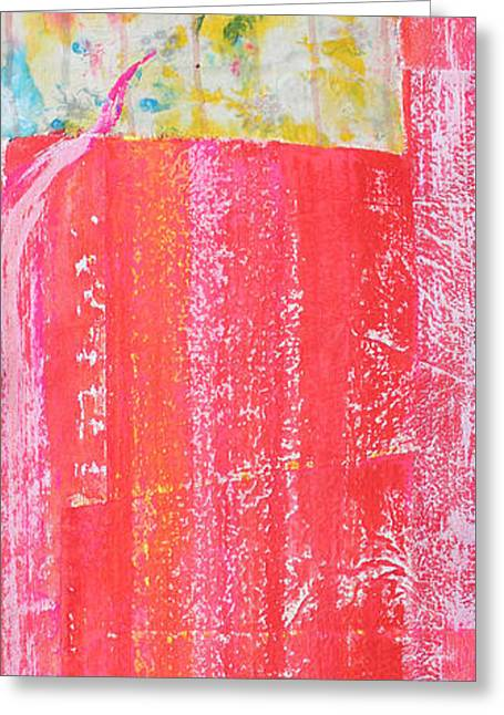 Print On Canvas Greeting Cards - Homage to Old Paint Rags Greeting Card by Asha Carolyn Young
