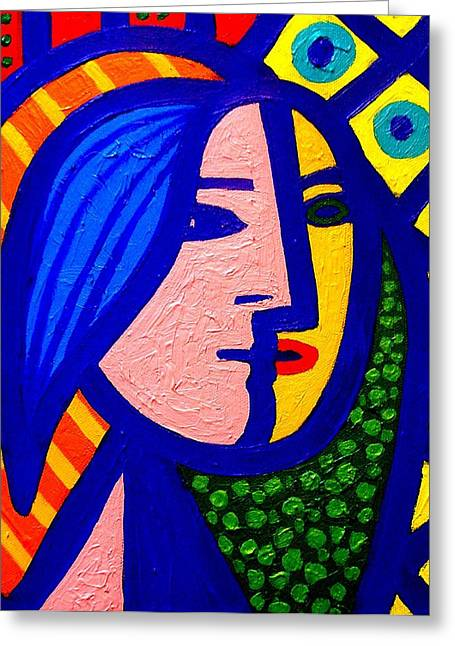 Table Wine Greeting Cards - Homage To Pablo Picasso Greeting Card by John  Nolan