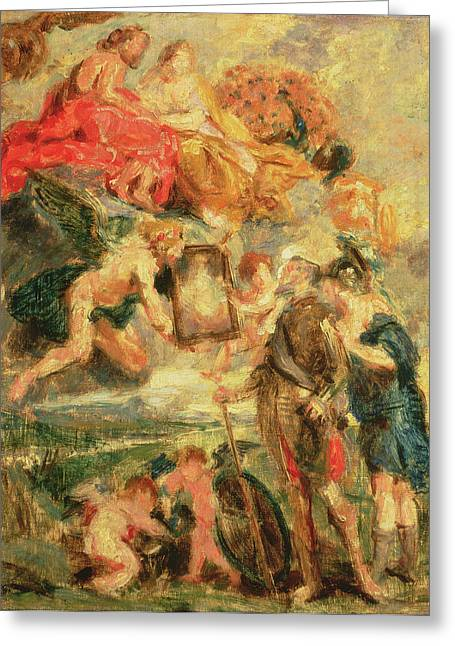 Sketch Greeting Cards - Homage To Rubens Greeting Card by Ignace Henri Jean Fantin-Latour