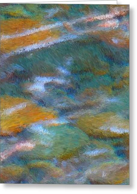 Nature Abstracts Greeting Cards - Homage to Van Gogh 2 Greeting Card by Carol Groenen